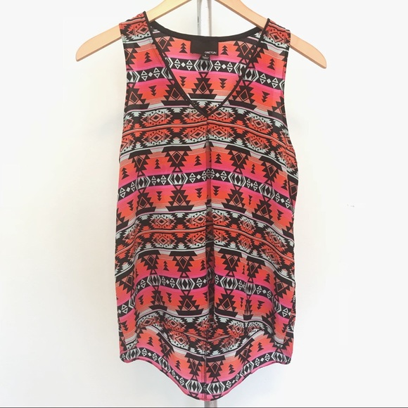 Greylin Tribal Print Silk Tank Top